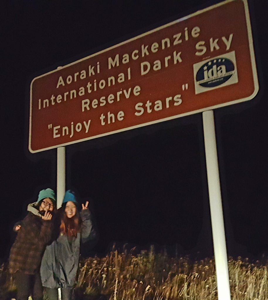 Aoraki Mackenzie International Dark Sky Reserve Sign